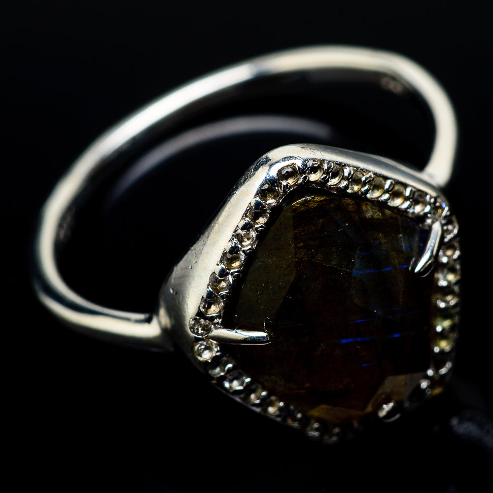 Labradorite Rings handcrafted by Ana Silver Co - RING21500