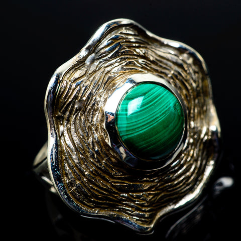 Malachite Rings handcrafted by Ana Silver Co - RING21555