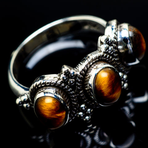Tiger Eye Rings handcrafted by Ana Silver Co - RING21592