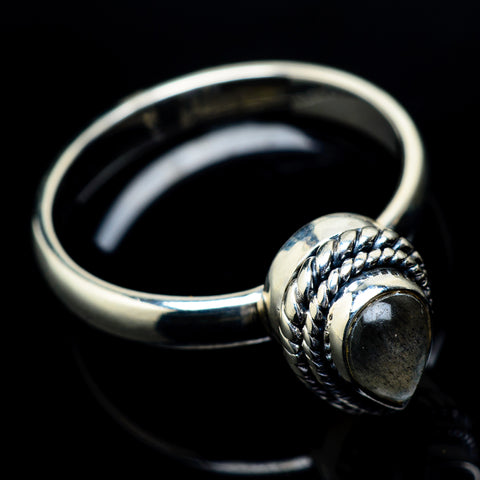 Labradorite Rings handcrafted by Ana Silver Co - RING21609