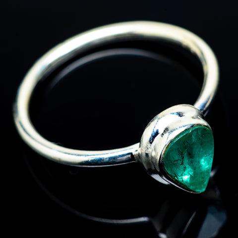 Zambian Emerald Rings handcrafted by Ana Silver Co - RING21641