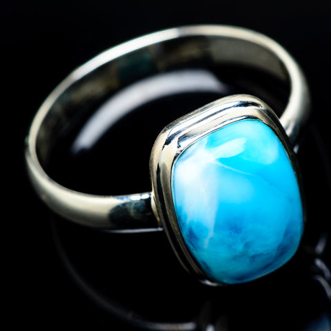 Larimar Rings handcrafted by Ana Silver Co - RING21687