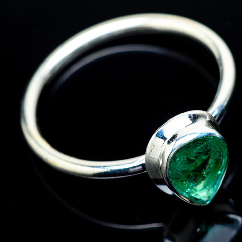 Zambian Emerald Rings handcrafted by Ana Silver Co - RING21695
