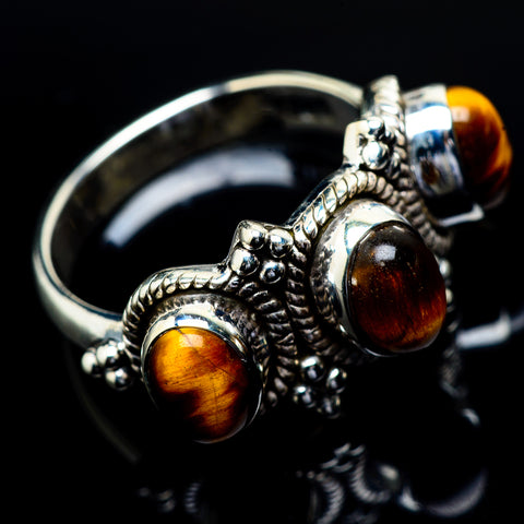 Tiger Eye Rings handcrafted by Ana Silver Co - RING21811