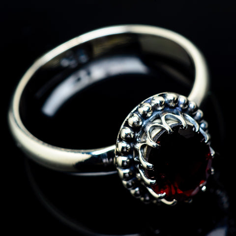Garnet Rings handcrafted by Ana Silver Co - RING21813