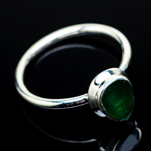 Zambian Emerald Rings handcrafted by Ana Silver Co - RING22012