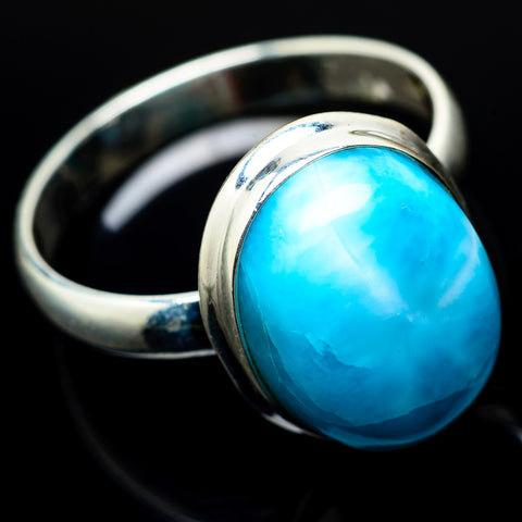 Larimar Rings handcrafted by Ana Silver Co - RING22034