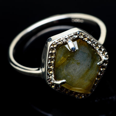 Labradorite Rings handcrafted by Ana Silver Co - RING22245