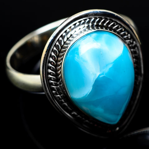 Larimar Rings handcrafted by Ana Silver Co - RING22309