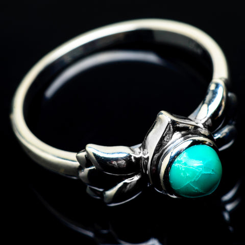 Tibetan Turquoise Rings handcrafted by Ana Silver Co - RING22314