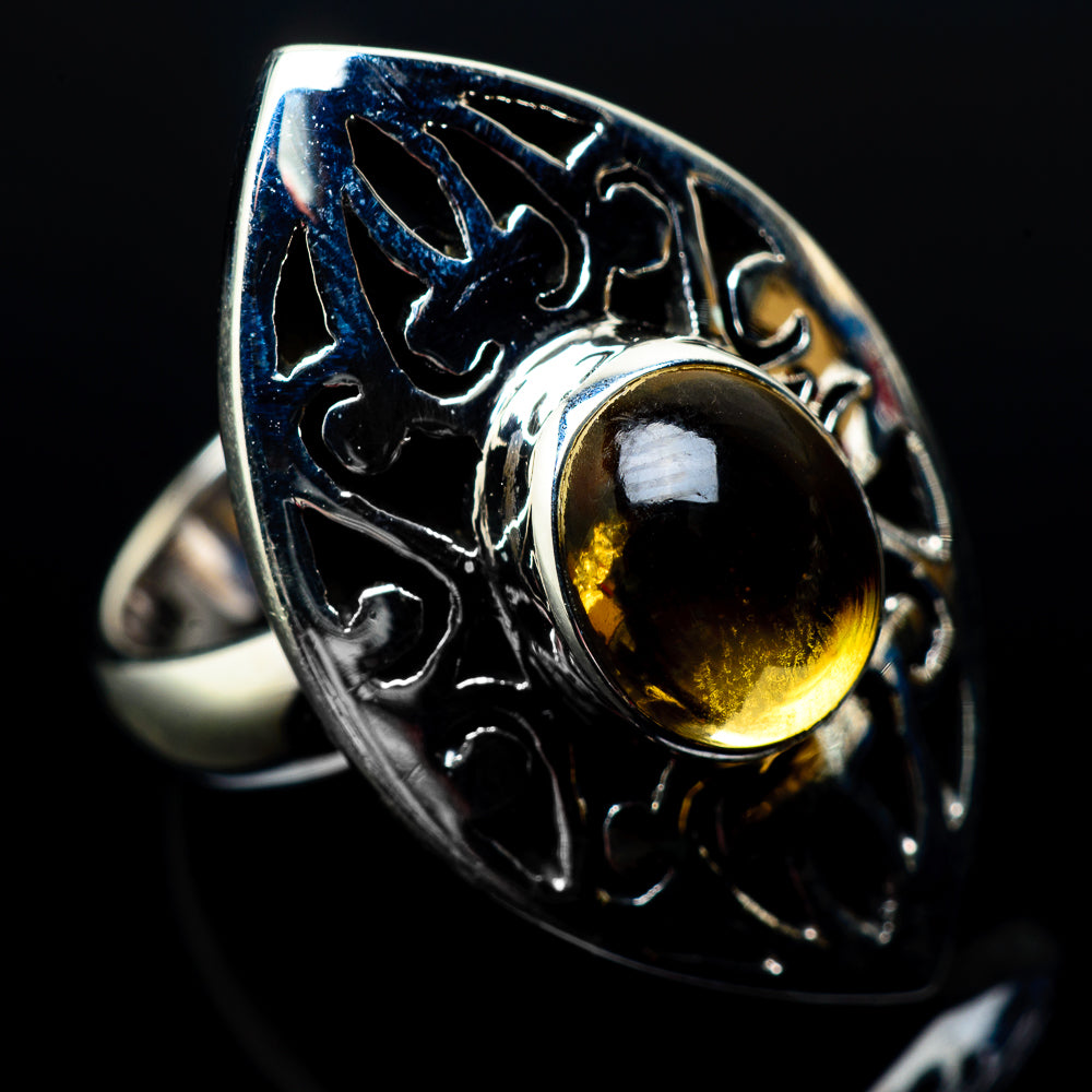 Citrine Rings handcrafted by Ana Silver Co - RING22337