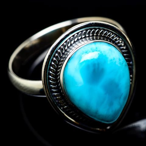 Larimar Rings handcrafted by Ana Silver Co - RING22382