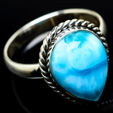 Larimar Rings handcrafted by Ana Silver Co - RING22443