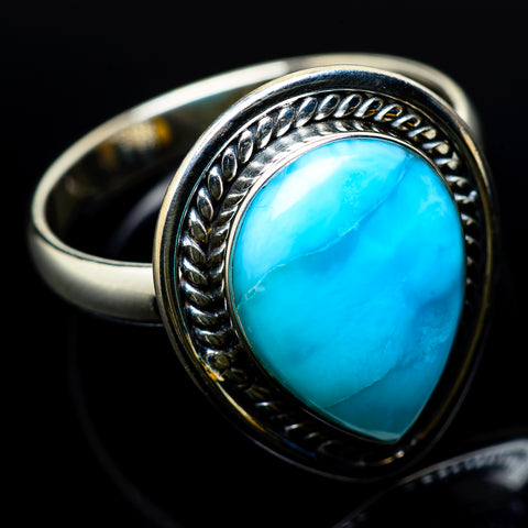 Larimar Rings handcrafted by Ana Silver Co - RING22598