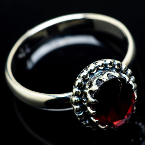Garnet Rings handcrafted by Ana Silver Co - RING22635