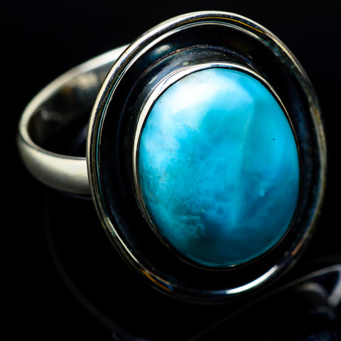 Larimar Rings handcrafted by Ana Silver Co - RING22663