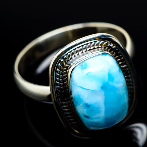 Larimar Rings handcrafted by Ana Silver Co - RING22677