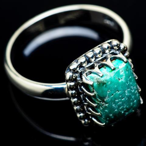 Tibetan Turquoise Rings handcrafted by Ana Silver Co - RING22716