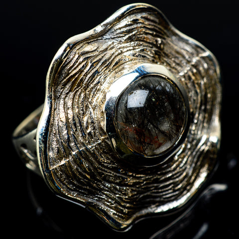 Tourmalinated Quartz Rings handcrafted by Ana Silver Co - RING22750