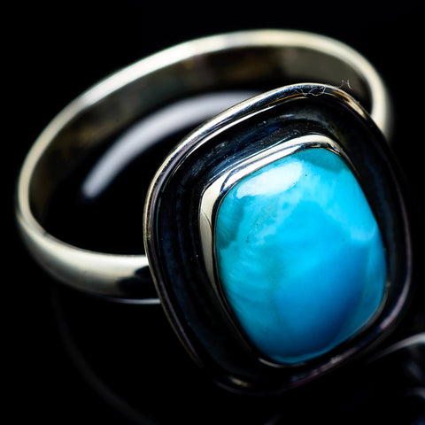 Larimar Rings handcrafted by Ana Silver Co - RING22786