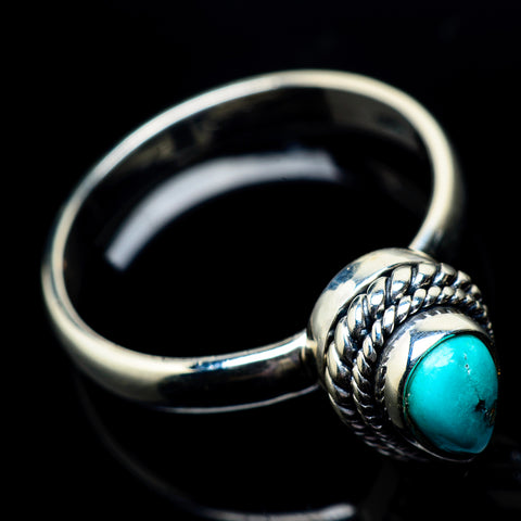 Tibetan Turquoise Rings handcrafted by Ana Silver Co - RING22813