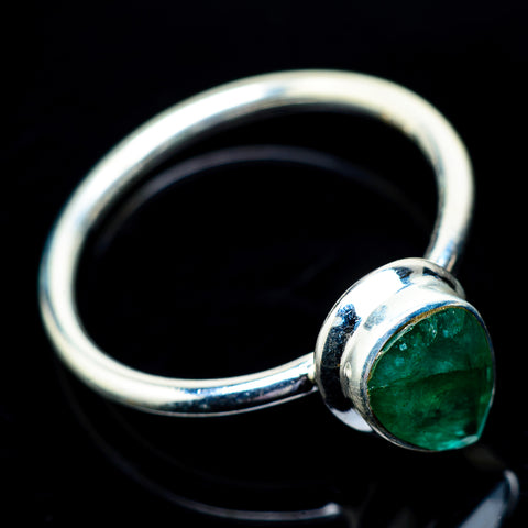 Zambian Emerald Rings handcrafted by Ana Silver Co - RING22816