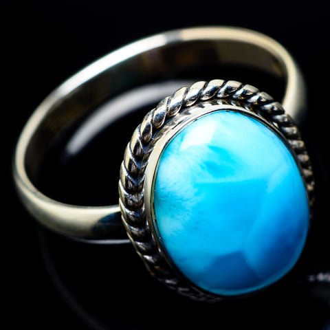 Larimar Rings handcrafted by Ana Silver Co - RING22840
