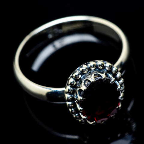 Garnet Rings handcrafted by Ana Silver Co - RING22907