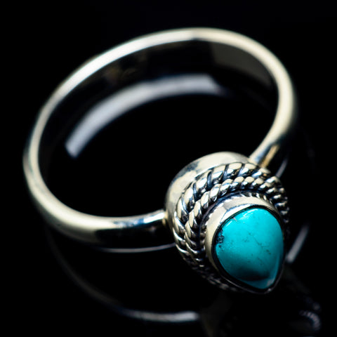 Tibetan Turquoise Rings handcrafted by Ana Silver Co - RING22921