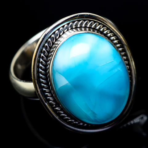 Larimar Rings handcrafted by Ana Silver Co - RING22922