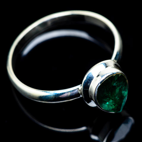 Zambian Emerald Rings handcrafted by Ana Silver Co - RING23007
