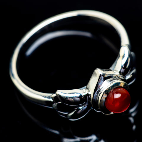 Red Onyx Rings handcrafted by Ana Silver Co - RING23012