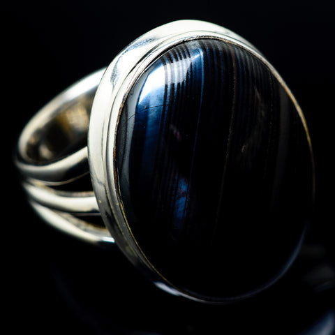 Psilomelane Rings handcrafted by Ana Silver Co - RING23022
