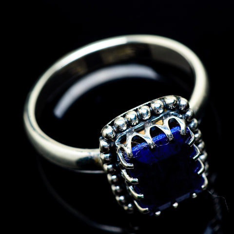 Lapis Lazuli Rings handcrafted by Ana Silver Co - RING23070