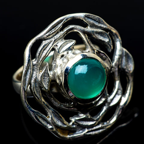 Green Onyx Rings handcrafted by Ana Silver Co - RING23167