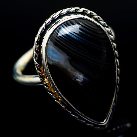 Psilomelane Rings handcrafted by Ana Silver Co - RING23174
