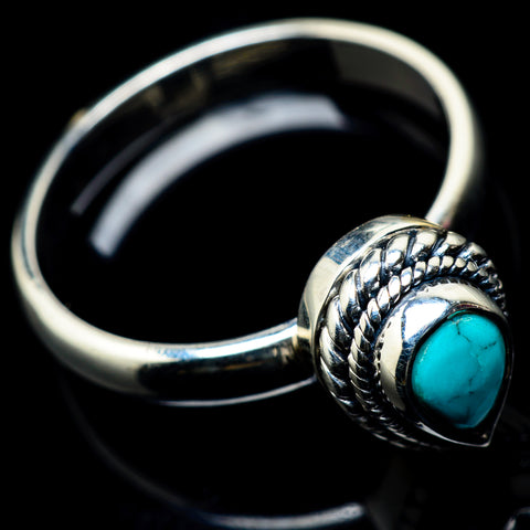 Tibetan Turquoise Rings handcrafted by Ana Silver Co - RING23219
