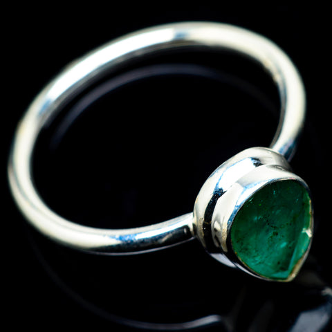 Zambian Emerald Rings handcrafted by Ana Silver Co - RING23237