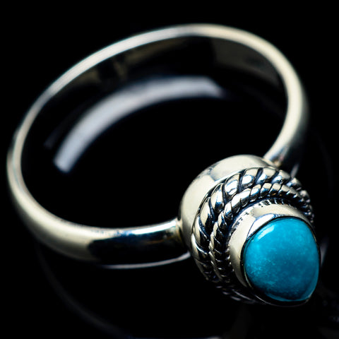 Tibetan Turquoise Rings handcrafted by Ana Silver Co - RING23249