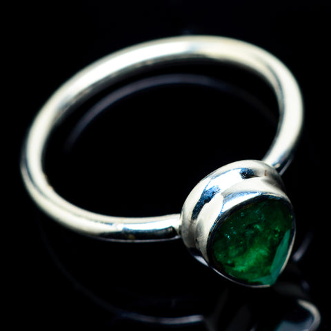 Zambian Emerald Rings handcrafted by Ana Silver Co - RING23286