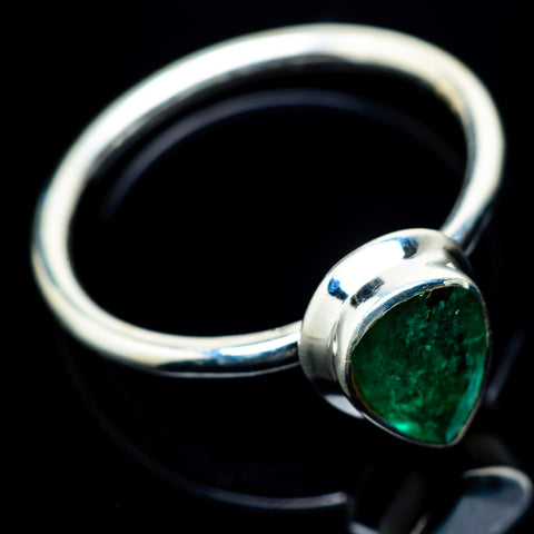 Zambian Emerald Rings handcrafted by Ana Silver Co - RING23297