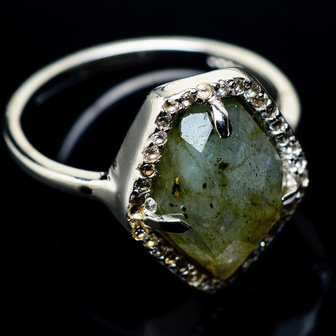 Labradorite Rings handcrafted by Ana Silver Co - RING23312