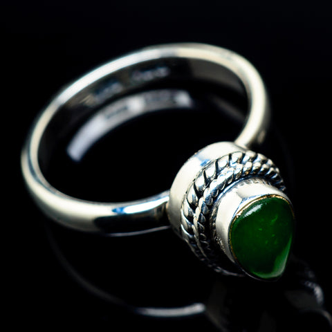 Zambian Emerald Rings handcrafted by Ana Silver Co - RING23326