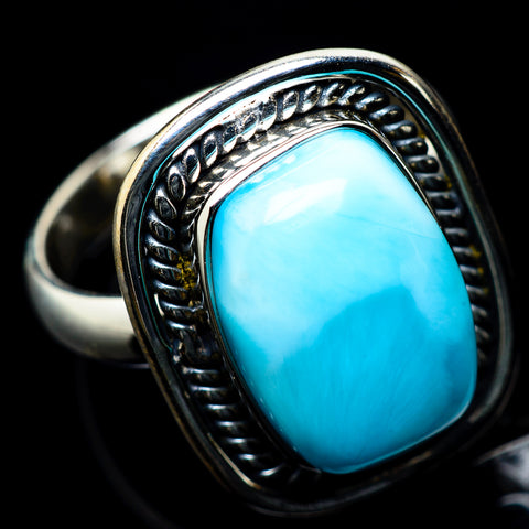 Larimar Rings handcrafted by Ana Silver Co - RING23386