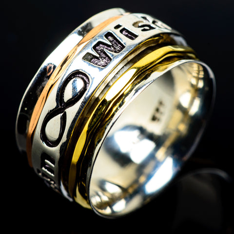 Meditation Spinner Rings handcrafted by Ana Silver Co - RING23600