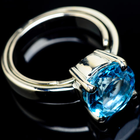 Blue Topaz Rings handcrafted by Ana Silver Co - RING23630