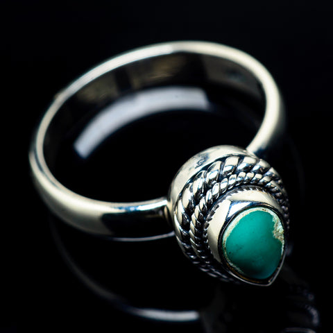 Tibetan Turquoise Rings handcrafted by Ana Silver Co - RING23702