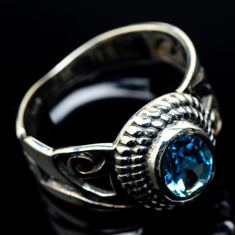 Blue Topaz Rings handcrafted by Ana Silver Co - RING23724