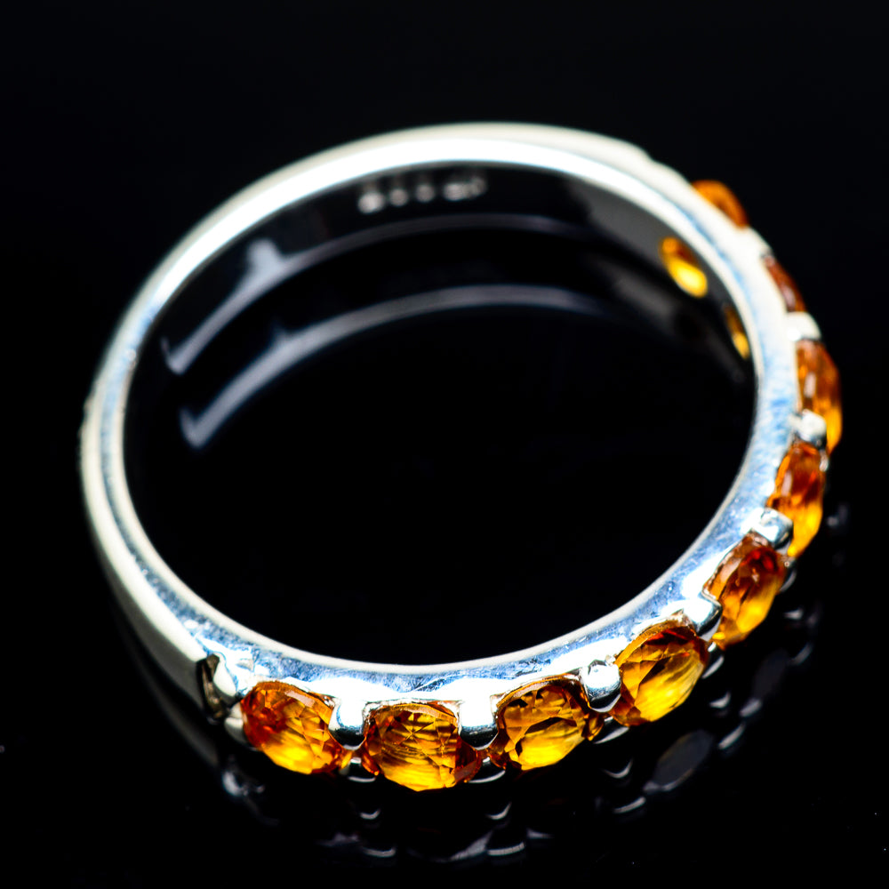 Mandarin Citrine Rings handcrafted by Ana Silver Co - RING23746