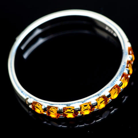Mandarin Citrine Rings handcrafted by Ana Silver Co - RING23777